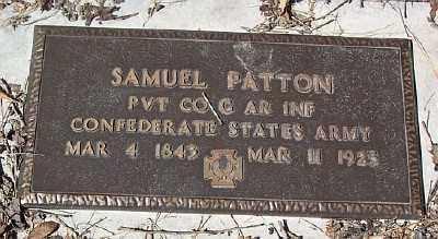 PATTON (VETERAN CSA), SAMUEL - Marion County, Arkansas   SAMUEL PATTON (VETERAN CSA) - Arkansas Gravestone Photos