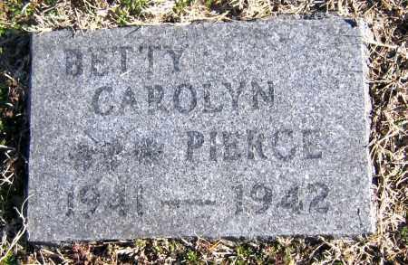 PIERCE, BETTY CAROLYN - Marion County, Arkansas   BETTY CAROLYN PIERCE - Arkansas Gravestone Photos