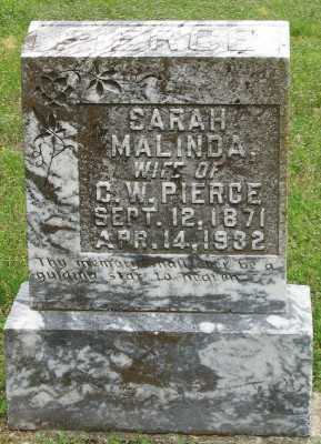 PIERCE, SARAH MALINDA - Marion County, Arkansas | SARAH MALINDA PIERCE - Arkansas Gravestone Photos