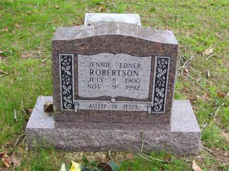 ROBERTSON (1), JENNIE EDNER - Marion County, Arkansas | JENNIE EDNER ROBERTSON (1) - Arkansas Gravestone Photos