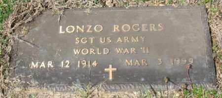 ROGERS (VETERAN WWII), LONZO - Marion County, Arkansas | LONZO ROGERS (VETERAN WWII) - Arkansas Gravestone Photos