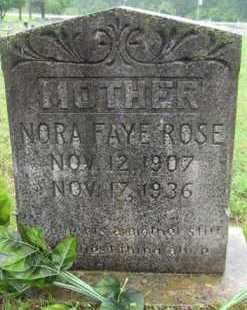 SMITH ROSE, NORA FAYE - Marion County, Arkansas   NORA FAYE SMITH ROSE - Arkansas Gravestone Photos