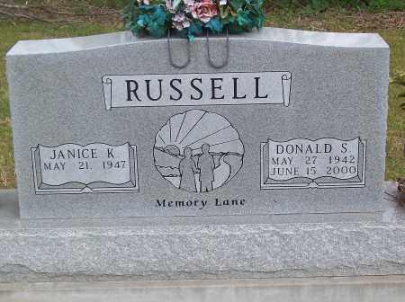 RUSSELL, DONALD S. - Marion County, Arkansas   DONALD S. RUSSELL - Arkansas Gravestone Photos