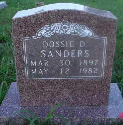 SANDERS, DOSSIE D. - Marion County, Arkansas | DOSSIE D. SANDERS - Arkansas Gravestone Photos