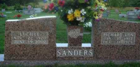 SANDERS, RICHARD VON - Marion County, Arkansas | RICHARD VON SANDERS - Arkansas Gravestone Photos