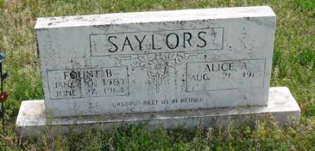 SAYLORS, ALICE A. - Marion County, Arkansas | ALICE A. SAYLORS - Arkansas Gravestone Photos