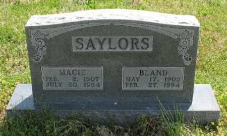 SAYLORS, BLAND - Marion County, Arkansas | BLAND SAYLORS - Arkansas Gravestone Photos