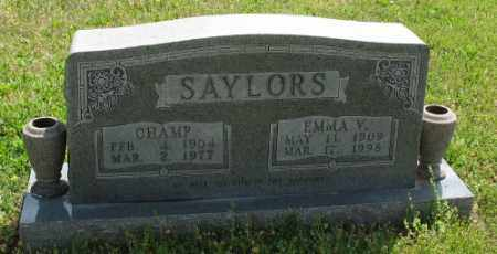 SAYLORS, CHAMP - Marion County, Arkansas | CHAMP SAYLORS - Arkansas Gravestone Photos