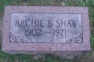 SHAW, ARCHIE B. - Marion County, Arkansas | ARCHIE B. SHAW - Arkansas Gravestone Photos