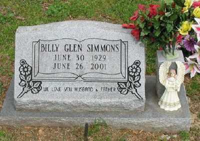 SIMMONS, BILLY GLEN - Marion County, Arkansas | BILLY GLEN SIMMONS - Arkansas Gravestone Photos
