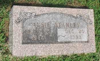 STANLEY, ALSIE - Marion County, Arkansas   ALSIE STANLEY - Arkansas Gravestone Photos