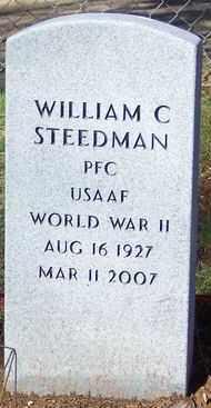 STEEDMAN (VETERAN WWII), WILLIAM C. - Marion County, Arkansas   WILLIAM C. STEEDMAN (VETERAN WWII) - Arkansas Gravestone Photos