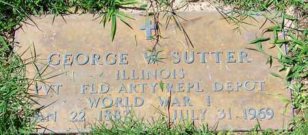 SUTTER (VETERAN WWI), GEORGE W. - Marion County, Arkansas | GEORGE W. SUTTER (VETERAN WWI) - Arkansas Gravestone Photos
