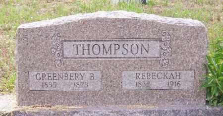 THOMPSON (VETERAN CSA), GREENBERY B. - Marion County, Arkansas | GREENBERY B. THOMPSON (VETERAN CSA) - Arkansas Gravestone Photos