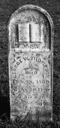 THOMPSON (VETERAN 1812), GEORGE W - Marion County, Arkansas   GEORGE W THOMPSON (VETERAN 1812) - Arkansas Gravestone Photos