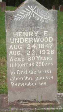 UNDERWOOD, HENRY E. - Marion County, Arkansas | HENRY E. UNDERWOOD - Arkansas Gravestone Photos