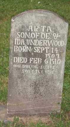 UNDERWOOD, ARTA - Marion County, Arkansas | ARTA UNDERWOOD - Arkansas Gravestone Photos