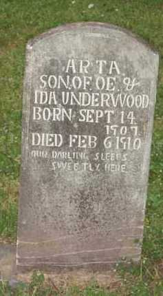 UNDERWOOD, ARTA - Marion County, Arkansas | ARTA UNDERWOOD - Arkansas Gravestone Photos