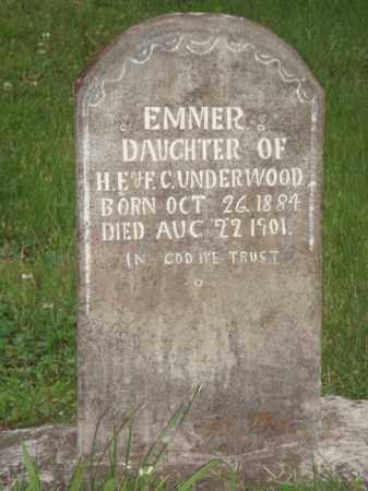 UNDERWOOD, EMMER - Marion County, Arkansas | EMMER UNDERWOOD - Arkansas Gravestone Photos