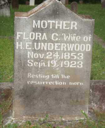UNDERWOOD, FLORA - Marion County, Arkansas | FLORA UNDERWOOD - Arkansas Gravestone Photos