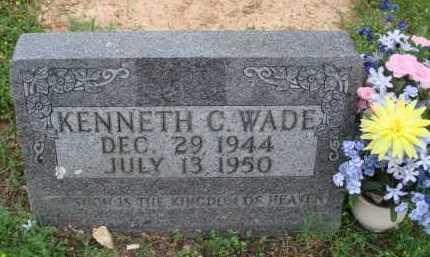 WADE, KENNETH C. - Marion County, Arkansas   KENNETH C. WADE - Arkansas Gravestone Photos