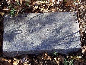 ADAMS WADE, LOUISA E - Marion County, Arkansas | LOUISA E ADAMS WADE - Arkansas Gravestone Photos