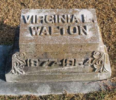WALTON, VIRGINIA L. - Marion County, Arkansas | VIRGINIA L. WALTON - Arkansas Gravestone Photos