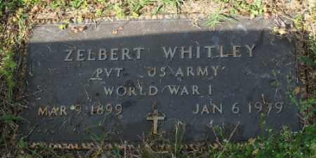 WHITLEY (VETERAN WWI), ZELBERT - Marion County, Arkansas | ZELBERT WHITLEY (VETERAN WWI) - Arkansas Gravestone Photos