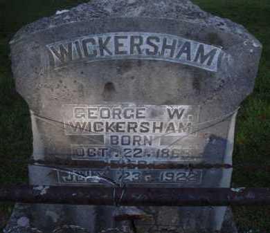 WICKERSHAM, GEORGE W. - Marion County, Arkansas | GEORGE W. WICKERSHAM - Arkansas Gravestone Photos