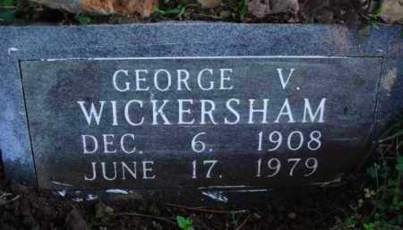 WICKERSHAM, GEORGE V. - Marion County, Arkansas | GEORGE V. WICKERSHAM - Arkansas Gravestone Photos