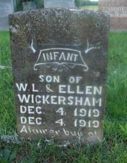 WICKERSHAM, INFANT SON - Marion County, Arkansas   INFANT SON WICKERSHAM - Arkansas Gravestone Photos