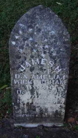 WICKERSHAM, JAMES H. - Marion County, Arkansas   JAMES H. WICKERSHAM - Arkansas Gravestone Photos