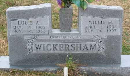 WICKERSHAM, WILLIE M. - Marion County, Arkansas | WILLIE M. WICKERSHAM - Arkansas Gravestone Photos