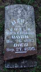 WICKERSHAM, MARY - Marion County, Arkansas | MARY WICKERSHAM - Arkansas Gravestone Photos