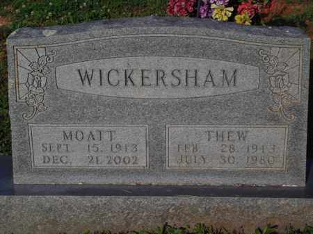WICKERSHAM, THEW - Marion County, Arkansas | THEW WICKERSHAM - Arkansas Gravestone Photos