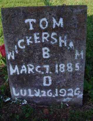 WICKERSHAM, TOM - Marion County, Arkansas | TOM WICKERSHAM - Arkansas Gravestone Photos