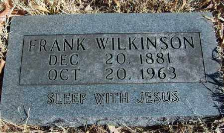 WILKINSON, FRANK - Marion County, Arkansas   FRANK WILKINSON - Arkansas Gravestone Photos