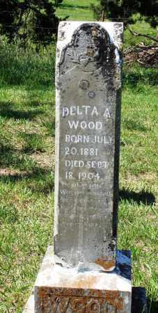 WOOD, DELTA A - Marion County, Arkansas   DELTA A WOOD - Arkansas Gravestone Photos