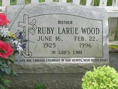 WOOD, RUBY LARUE - Marion County, Arkansas | RUBY LARUE WOOD - Arkansas Gravestone Photos