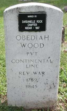 WOOD (VETERAN RW), OBEDIAH - Marion County, Arkansas | OBEDIAH WOOD (VETERAN RW) - Arkansas Gravestone Photos