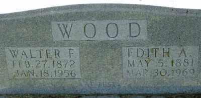 WOOD, WALTER F. (CLOSE UP) - Marion County, Arkansas   WALTER F. (CLOSE UP) WOOD - Arkansas Gravestone Photos