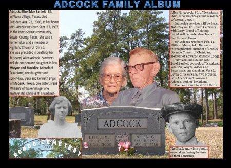 ADCOCK, ETHEL M.(PHOTO) - Miller County, Arkansas | ETHEL M.(PHOTO) ADCOCK - Arkansas Gravestone Photos