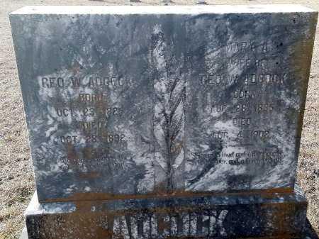 ADCOCK, MARY A - Miller County, Arkansas | MARY A ADCOCK - Arkansas Gravestone Photos