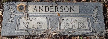 ANDERSON, MARY LEE - Miller County, Arkansas   MARY LEE ANDERSON - Arkansas Gravestone Photos