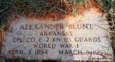 BLUNT  (VETERAN WWI), JOSEPH ALEXANDER - Miller County, Arkansas | JOSEPH ALEXANDER BLUNT  (VETERAN WWI) - Arkansas Gravestone Photos
