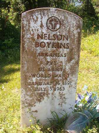 BOYKINS (VETERAN WWI), NELSON - Miller County, Arkansas   NELSON BOYKINS (VETERAN WWI) - Arkansas Gravestone Photos