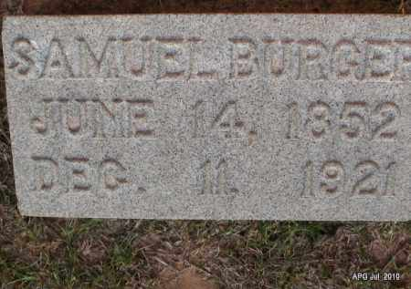 BURGER, SAMUEL - Miller County, Arkansas | SAMUEL BURGER - Arkansas Gravestone Photos