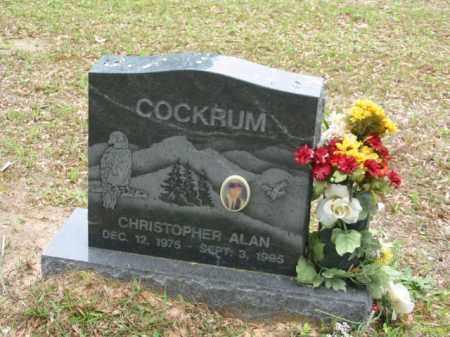 COCKRUM, CHRISTOPHER ALAN - Miller County, Arkansas | CHRISTOPHER ALAN COCKRUM - Arkansas Gravestone Photos