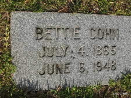 COHN, BETTIE - Miller County, Arkansas | BETTIE COHN - Arkansas Gravestone Photos