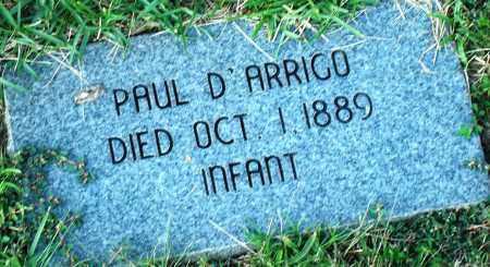 D'ARRIGO, PAUL - Miller County, Arkansas | PAUL D'ARRIGO - Arkansas Gravestone Photos